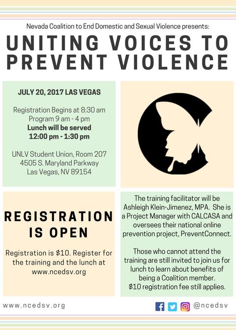 Uniting Voices to Prevent Violence : Regional Training - Las Vegas @ UNLV Campus