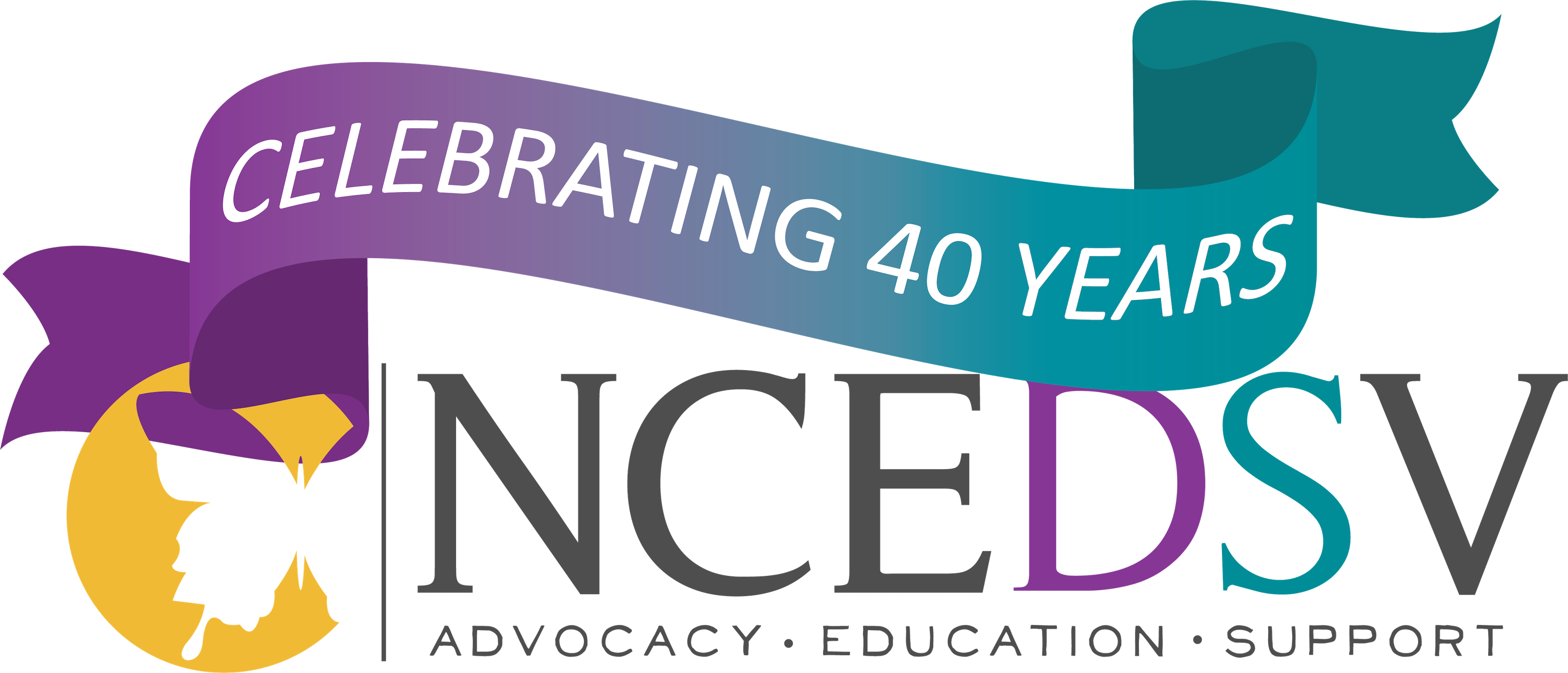 NCEDSV 40th Transparent Logo
