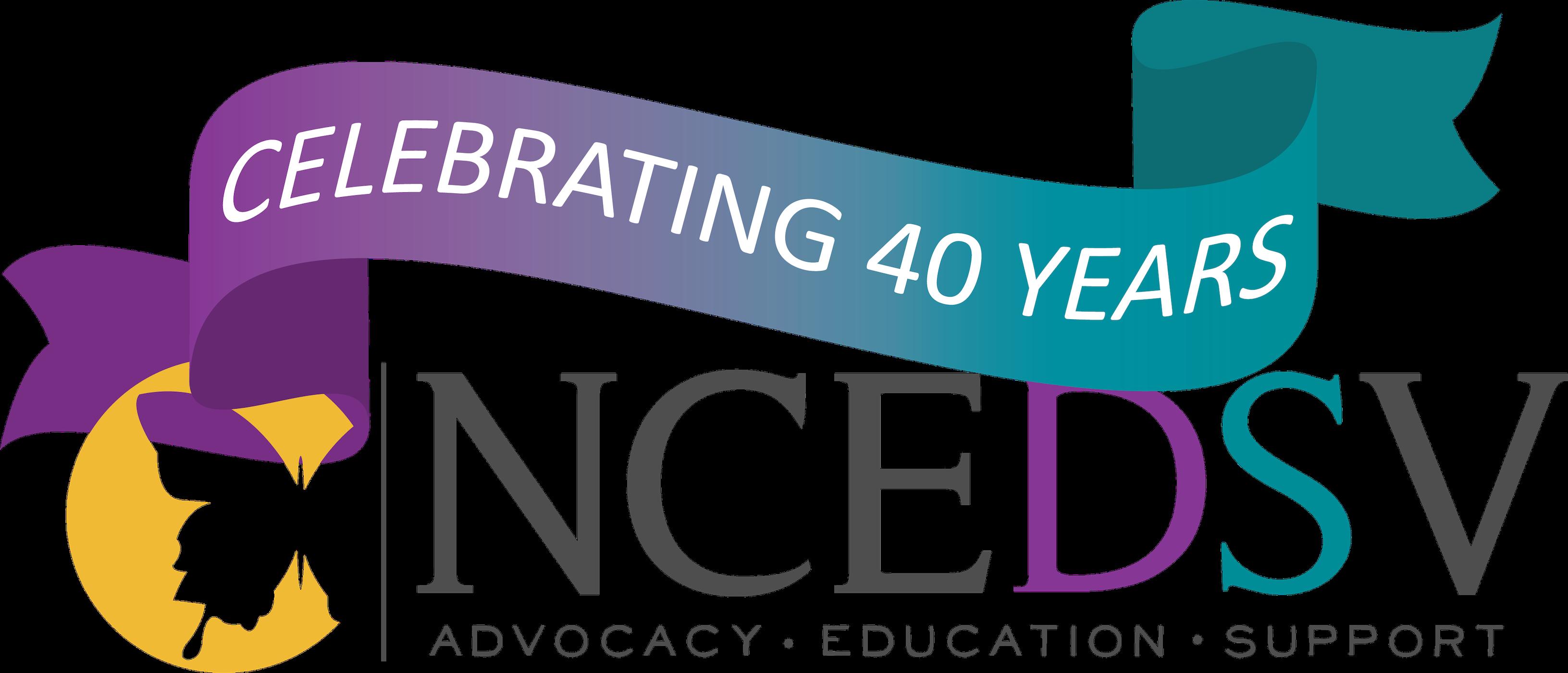 NCEDSV 40th Transparent Logo