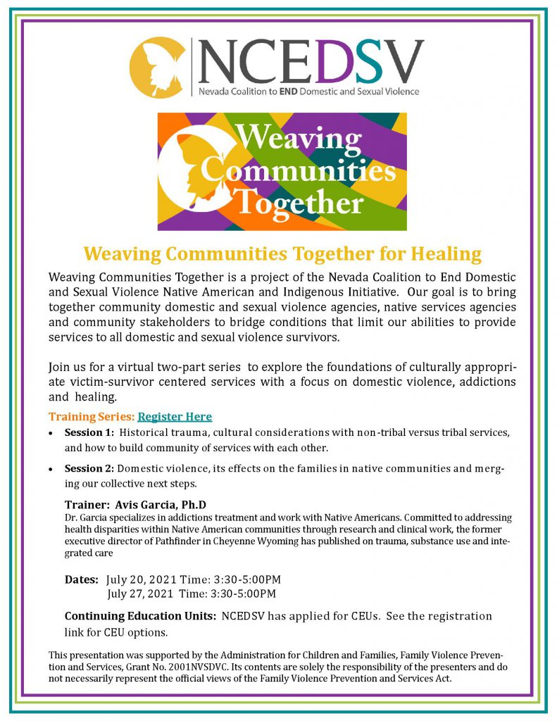 Session 1 of 2: Weaving Communities Together for Healing